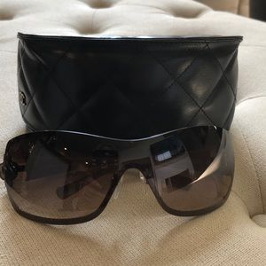 Chanel sunglasses with quilted case
